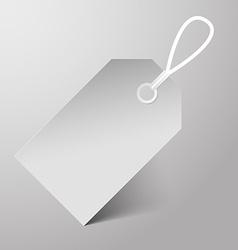 Empty Paper Label vector image