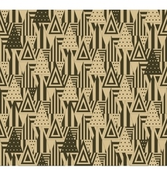 Geometric pattern with triangles vector image vector image