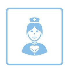 Nurse costume icon vector