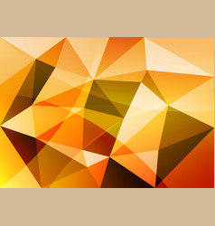 orange triangle abstract background vector image vector image