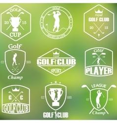 Set of vintage golf labels vector image