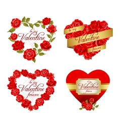 Valentines holiday frames vector image vector image