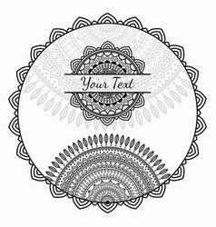 african background with round ornament vector image vector image