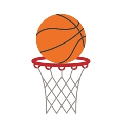 ball basket basketball score shooting vector image