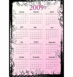 European grungy calendar vector image