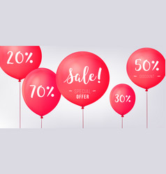 red baloons discounts sale concept icons for shop vector image