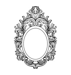 rich baroque mirror frame french luxury vector image vector image