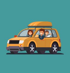 road trip with family vector image