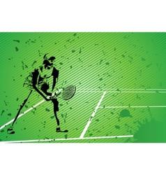tennis illustration vector image vector image