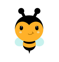 adorable cartoon bee character in modern flat vector image