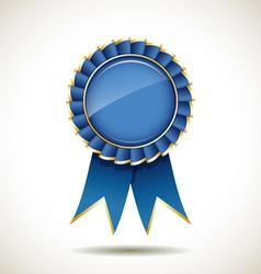 Blue and gold ribbons award vector image vector image