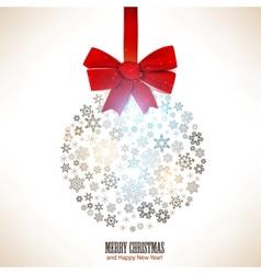 Christmas ball made from snowflakes Christmas vector image