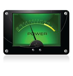 green signal meter vector image vector image