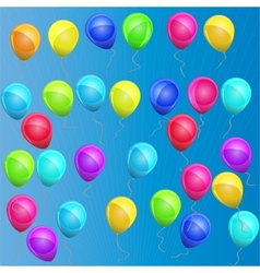 multicolored balloons vector image vector image