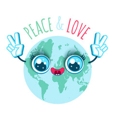 peace and love vector image vector image