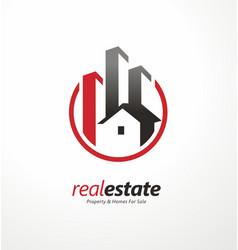real estate business logo design symbol vector image