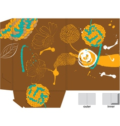 template for folder with animal vector image