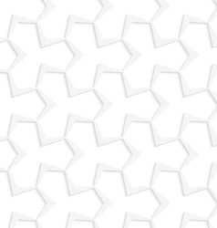 3D white abstract pointy tetrapod grid vector