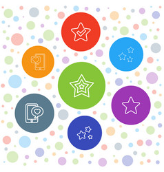 7 review icons vector image