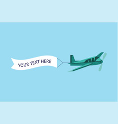 airplane or plane with advertising ribbon vector image