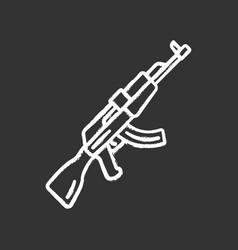 Akm weapon chalk icon virtual video game firearm vector