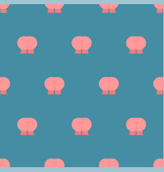 Ass pattern seamless with legs background vector