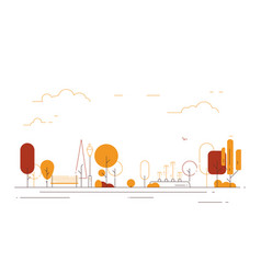 autumn city park line style vector image
