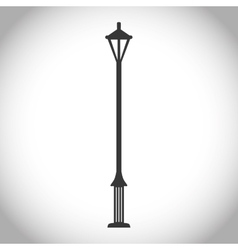 Black and isolated park lamp design vector image