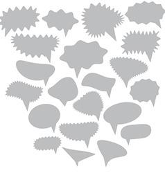 Blank Empty gray Speech bubbles set on white vector image