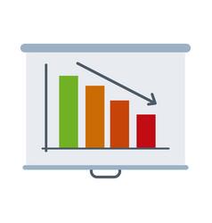 Board presentation report falling diagram vector