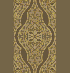 Brown oriental pattern vector