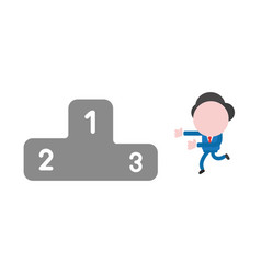businessman character running to podium vector image