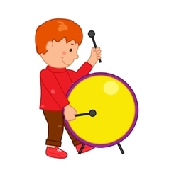 Cartoon musician kid for vector image