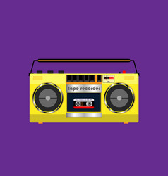 cassette tape recorder vector image