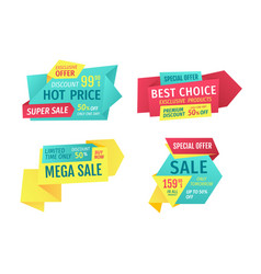 Catchphrases for shop sale advertisement banners vector