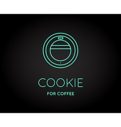 Coffee Accessories Icon with Letter Sign can be vector image