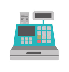 color silhouette with cash register vector image