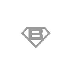 diamond initial letter b logo design vector image