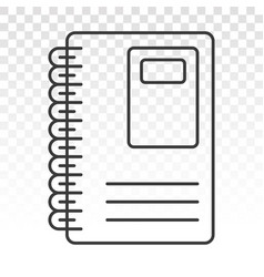 Diary book or journal line art icons for apps vector