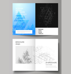 editable layout of two a4 format cover vector image