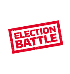 Election battle rubber stamp vector