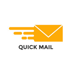 fast mail graphic icon design template vector image