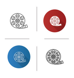 filmstrip roll icon vector image