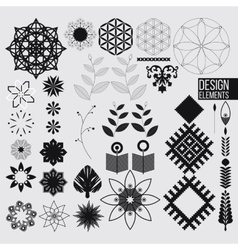 Geometric abstract design elements vector image