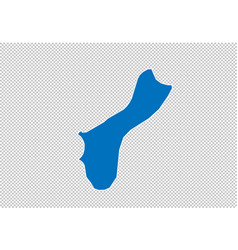 Guam map - high detailed blue map with vector