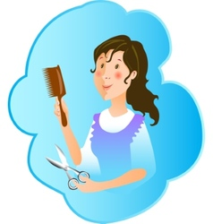 Hairdresser profession vector image