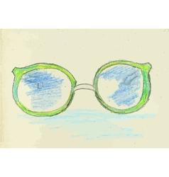 Hand Drawn Glasses2 vector image