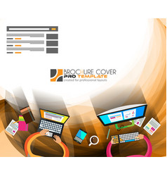 Infographics Teamwork with Business background vector image