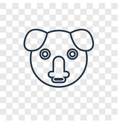koala concept linear icon isolated on transparent vector image
