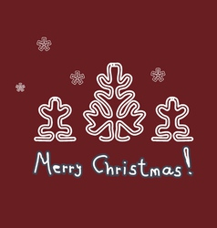lace christmas trees cards vector image